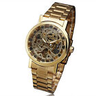 Multi-Choices Men Classic Transparent Skeleton Mechanical Stainless Steel Watch