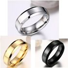 Percious Simple Size 6-12 Stainless Steel Women's Men's Engagement Rings Gift