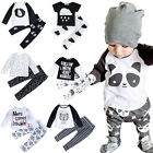 2 in 1 Newborn Infant Kids Baby Boy Girl Clothes T-shirt Tops   Pants Outfit Set