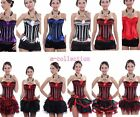 Burlesque Moulin Rouge Can Can Tutu Fancy Dress Costume Corset Outfit