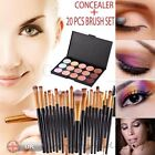 UK Professional 15 Colors Contour Face Cream Concealer Palette With 20 Brush New
