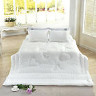 Modern Hearts Bedding Quilt Bedspread Coverlet 3 PC Reversible Full Queen Set