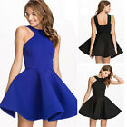 Sexy Women Summer Dress Halter Sleeveless Party Cocktail Short Tutu Mini Dress