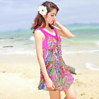 CF85052 one piece swimsuit with skirt - 1 piece swimsuit for women Pink 8-10