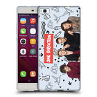 OFFICIAL ONE DIRECTION GROUP PHOTO DOODLE ICON SOFT GEL CASE FOR HUAWEI PHONES