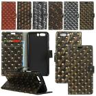 """For ZTE Blade D6 V6 X7 5"""" 3D Punk Style Rugged PU Leather Flip Case Cover Wallet"""