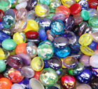 Round Flat Bottom Glass Pebbles,Stones,Beads - Various Quantities and Colours