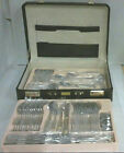 NEW Royal Salute Golden Accent 78 PC 12 Person Cutlery Set in Leather Case $1530