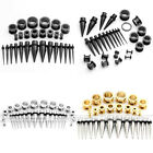 28pcs 2-10mm Stainless Steel Taper Stretcher Spiral Ear Plug Tunnel Stretching