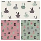 BUNNY - COTTON JERSEY SWEATSHIRT FABRIC stretch ELASTANE rabbit children