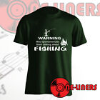 FUNNY FISHING T-SHIRT  IN FOREST GREEN