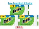 Bounty Paper Towels Roll Select A Size White 8 Pack Absorbent  8 Or 24    New