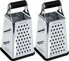 Cheese Grater Vegetable Slicer Stainless Steel 6 Sides 95 By Utopia Kitchen