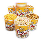 """Novelty Place Retro Style Plastic Popcorn Containers for Movie Night 7.25""""x7.25"""""""