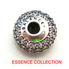 ESSENCE COLLECTION BALANCE Clear CZ 925 Sterling Silver Fit Charm Bracelet