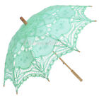 New Embroidery Lace Sun Parasol Wedding Bridal Umbrella Photo Props Shower