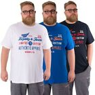 Loyalty & Faith Mens Plus Size T Shirt Crew Neck Cotton King Tee Top 2XL - 5XL