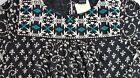 NWT Lucky Brand 3/4 Sleeve Black Embroidered Knit Blouse  Choose Sz   L2042