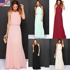 Womens Formal Long Chiffon Dress Prom Evening Party Cocktail Bridesmaid Wedding