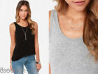 US 2017 Summer Women Fashion Sleeveless Casual Top Blouse T-Shirt Blouse Vest