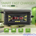Souer Automatic Electric Car Battery Charger 12V Intelligent Pulse LCD 6A/10A