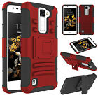 For LG K8/ Phoenix 2 / Escape 3 Phone Case Shockproof Hybrid Holster Armor Cover