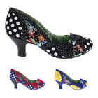 Womens Poetic Licence Shake It Floral Slip On Mid Heel Court Shoes UK 3.5-8.5