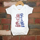 2017 Funny 100% Cotton Cute Baby 50% Mummy Daddy Baby Bodysuit Grow Nontoxic Ink