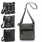 New Thirty one organizing shoulder bag purse pouch 31 gift twill stripe black
