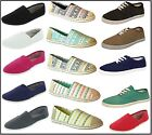 New Womens Canvas Ballet Flats Slip on Espadrille Loafer Ladies Shoes USA SELLER