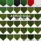 1m x 2m Astro Artificial Garden Grass Realistic Natural Looking Turf Fake Lawn