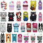 3D Cartoon Soft Silicone Back Case Cover For Samsung Galaxy S5/6 S7 Edge S8 Plus