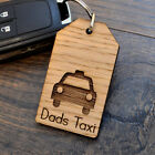 Dads Taxi - Fathers Day Keyring for Dad Birthday Christmas Gift Present