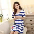 Summer Women Household Leisure Comfortable Short sleeve Pockets T-shirt Dress