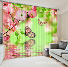 3D Butterfly 02 Blockout Photo Curtain Printing Curtains Drapes Fabric Window CA