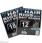 PRESTON INNOVATIONS FISHING HOOKS TO NYLON - PR36 LONG HAIR RIGS WITH BANDS