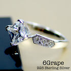 6Grape 2carat AAA Cubic Zirconia Women Engagement Ring 925 Sterling Silver cz