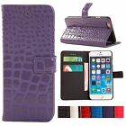 S*ACT New crocodile leather flip wallet card slot case cover for Iphone 5 6 4.7