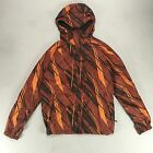 Fox Rogue Hooded Windbreaker Jacket Rust Size S.
