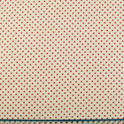 100% Cotton Fabric - 3mm SPOT - RED ON IVORY   - Rose & Hubble - Cut from Roll