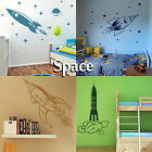 Space Wall Stickers Transfer Graphic Decal Decor Art Stencil Boys Rocket Sticker