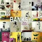 Banksy Wall Stickers - Home Vinyl Transfer - Self Adhesive Art Decal / Decor