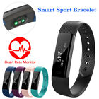 Bluetooth Heart Rate Monitor Smart Watch Wrist Fitness Tracker For iPhone