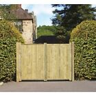 GARDEN TIMBER WOODEN GATES - Solid FORTRESS Tall Double Driveway Gates GRANGE
