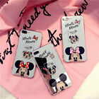 Cartoon Cute Mirror minnie mickey ring Tpu case cover for iphone 8 X 7 6S plus 6
