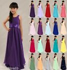 New Chiffon Bridesmaid Prom Party Princess Junior Flower Girl Dresses 2-16 years