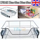PULL OUT WIRE BASKET FOR KITCHEN LARDER CUPBOARDS STAINESS STEEL SHELF DRAWER