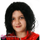 CHILD BLACK CURLY RELAXED AFRO WIG 1980S POP STAR FANCY DRESS COSTUME ACCESSORY
