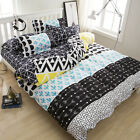 Abstract Geometry Single Double King Size Bed Pillowcase Quilt Duvet Cover Set