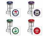 "FC569 24"" OR 29"" TALL VINTAGE GAS GARAGE AUTO SHOP THEMED SEAT CHROME BAR STOOLS"